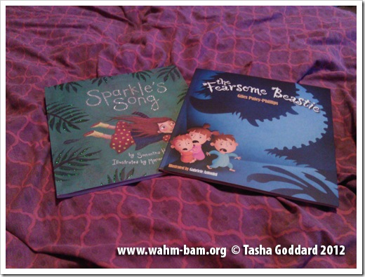Picture of two Maverick books: Sparkle's Song, by Samantha Hale, illustrated by Mariana Ruiz Johnson; The Fearsome Beastie, by Giles Paley-Phillips, illustrated by Gabriele Antonini