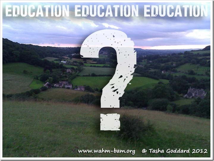 Education Education Education (yes, the image has nothing really to do with the topic)