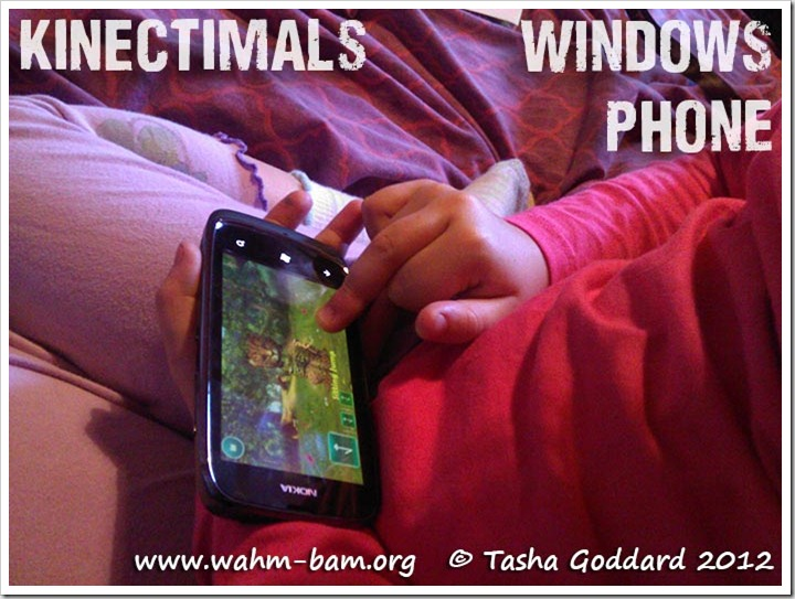 Kinectimals on Windows Phone (Nokia Lumia 601)