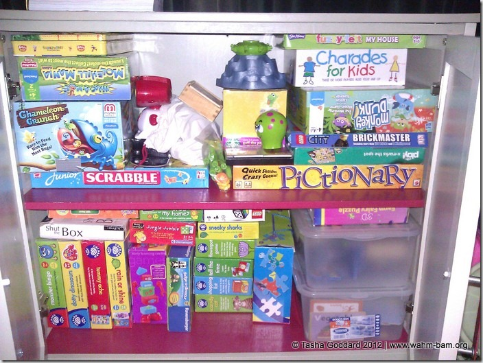 Games and puzzles cupboard