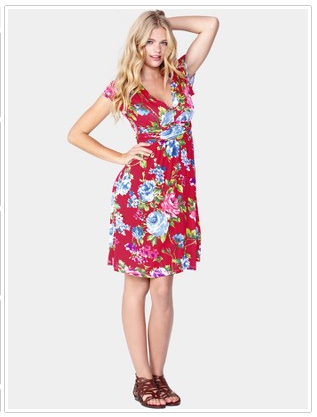 K & Co Jo Brown Floral Dress